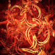 Fiery celebratory background - Foto Stock