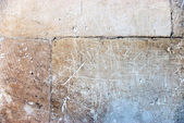 Worn stoned wall — Stock Photo