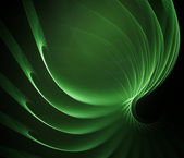 Swirly green fractal — Stock Photo