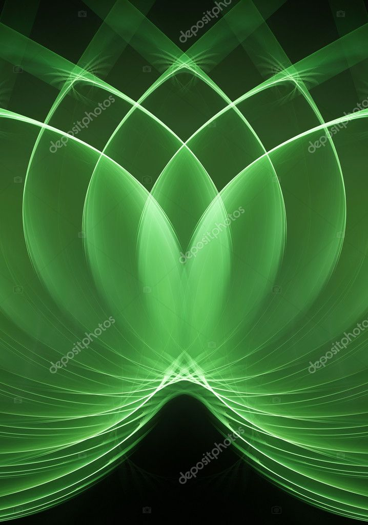 Loops green fractal. Computer generated this image — Stock Photo #1016803