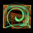 Swirl square abstract shape - Stock Photo