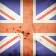 Royalty-Free Stock Photo: Burned flag of United kingdom