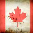 Burned flag of Canada — Stock Photo