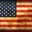 Stock Photo: Weathered flag of USA