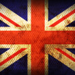 Weathered flag of United kingdom — Stock Photo