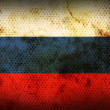 Weathered flag of Russia — Stock Photo