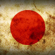Weathered flag of Japan — Stock Photo