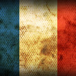 Stock Photo: Weathered flag of France