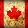 Weathered flag of Canada — Stock Photo