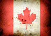 Burned flag of Canada — Stock Photo