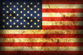 Weathered flag of USA — Stock Photo
