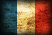 Weathered flag of France — Stock Photo