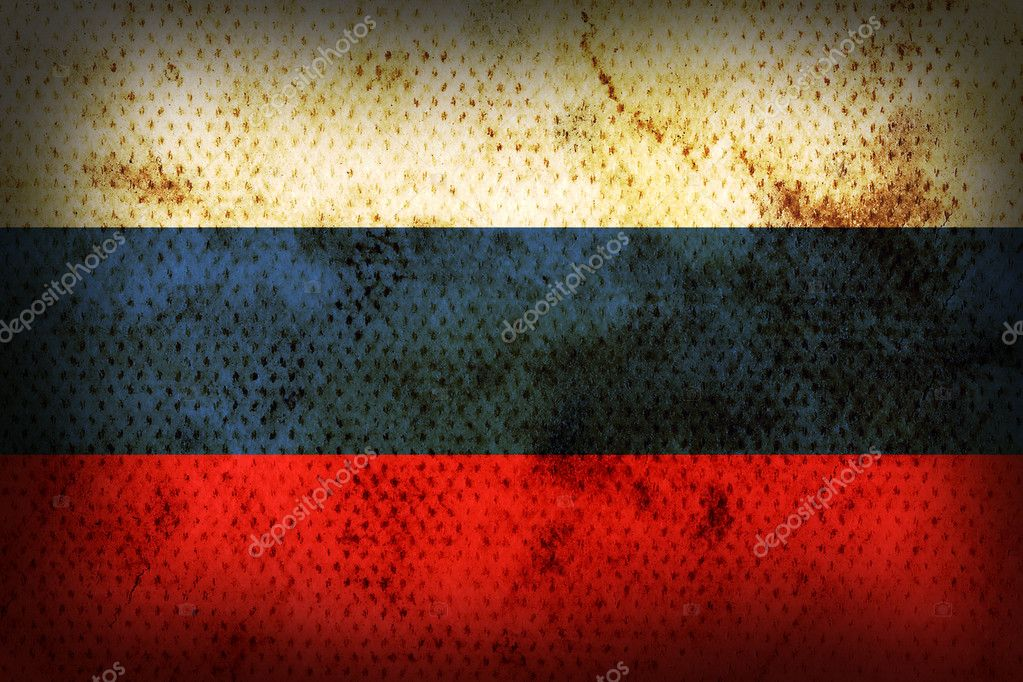 Flag of Russia. Weathered burned material — Stock Photo #1025715