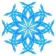 Blue snowflake — Stock Vector