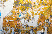Tattered paper of grungy urban wall — Stock Photo
