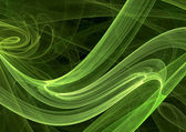 Green style curves — Stock Photo