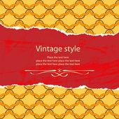 Vintage style template — Stock Vector