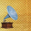 Royalty-Free Stock Photo: Vintage gramophone - grungy background