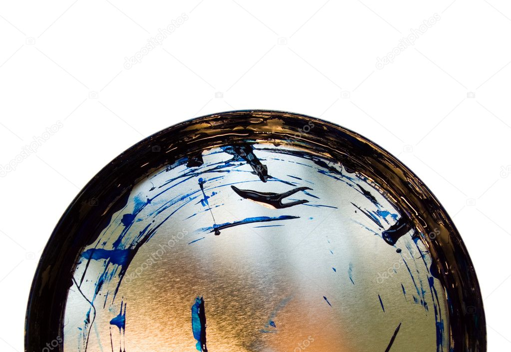 Blue paint intended for a seal offset on a cover — Stock Photo #1046739