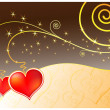 Royalty-Free Stock Imagen vectorial: Vector magic love card