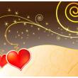Vector magic love card — Stock Vector