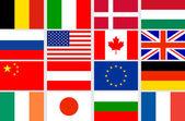 Vector set flags — Stock Vector