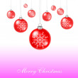 Royalty-Free Stock Vector Image: Red xmas balls