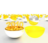Concept begin of 2010 year — Stock Photo