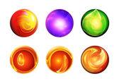 Set six abstract balls — Stock Photo