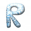 3D water drop letter — Foto de Stock