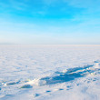 Winter cloudy landscape — Stock Photo