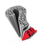 Largamente faq — Foto de Stock