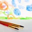 Preschool drawing — Stock Photo