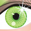 Royalty-Free Stock Vector Image: Abstract green eye with a patch of light