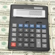 Royalty-Free Stock Photo: Calculator on money