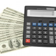Money with calculator — Stock Photo