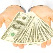 Money with hands - Stock Photo