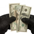 Money in hands — Stock Photo