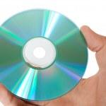 CD диск в руке — Стоковое фото