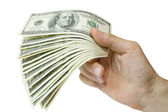 Money in hand — Stock Photo