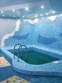 Pool in sauna — Stock Photo