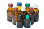 Medicine bottles — Stock Photo