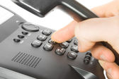 Dialing on phone — Stock Photo