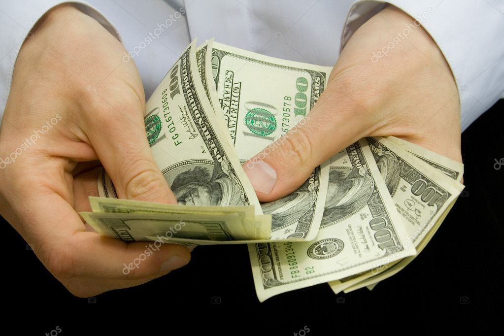 American dollars in the hands — Stock Photo #1011524