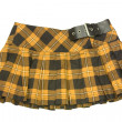 Yellow short skirt - Stockfoto