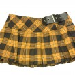 Yellow short skirt - Stock Photo