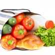 Royalty-Free Stock Photo: Food with shopping bag