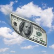 Royalty-Free Stock Photo: Flying money in the sky