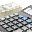 Finance concept. money with calculator — Stockfoto