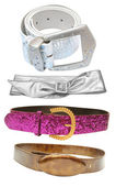 Belts - female accessories — Stock Photo